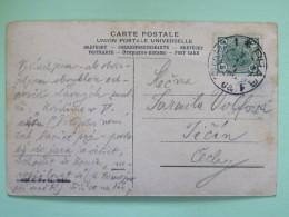"Austria 1900 Postcard """"children In Uniform To School"""" Prag (? Czech) To Ticin Czech - 1850-1918 Empire"