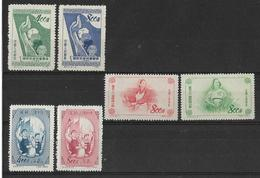 Chine China 1953 Y&T N° 971/972/973/974/977/978  émis Neufs** Sans Gomme Avec N°de Série Et Parution - 1949 - ... République Populaire