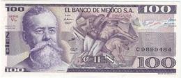 México 100 Pesos 25-3-1982 VL Pick 74.c UNC - México