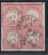 DR Briefstück Minr.4x 4Hannover 22.2.72  2 Waager. Paare - Deutschland