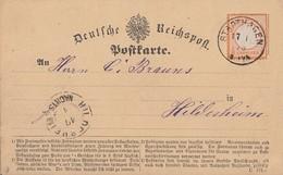 DR Karte EF Minr.18 K1 Stadthagen 17.1.73 Gel. Nach Hildesheim - Briefe U. Dokumente