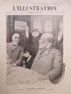 Period.1907 - MARIENBAD - Déjeuner Clemenceau & Edouard VII   Par Sabattier - Grande PAGE Originale  38 X 28 Cm - Historical Documents