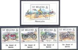 A285- St. Helena 1991 Motorcycles. International Philatelic Exhibition. Philanippon 91. - Motorbikes