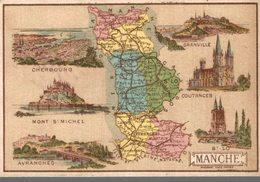 CHROMO  DEPARTEMENT LA MANCHE - Trade Cards