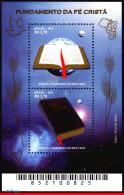 Ref. BR-3194 BRAZIL 2011 CHRISTMAS, RELIGION, BOOK, BIBLE,, SOUVENIR SHEET MNH 2V Sc# 3194 - Blocks & Sheetlets