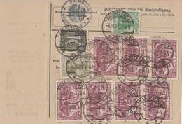DR Paketkarte Mif Minr.7x 115,143,147,159 Gardelegen 4.10.21 Gel. In Schweiz - Deutschland