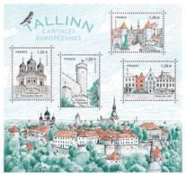 France 2018 - Yv N° F5212 ** Tallinn  (capitale De L'Estonie) - Timbres 5212/15 - Mi N° BL390 - Timbres 6987/90 - France