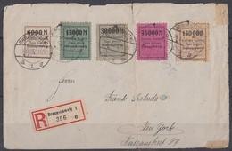 DR Brief Lokalausgabe Braunschweig Minr.II Braunschweig 18.9.23 Gel. In USA - Deutschland
