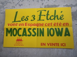 PATAUGAS Mauléon Pays Basque ( 64 ) Les 3 Etché Vont En Espagne Cet été En Mocassin Iowa - Pubblicitari
