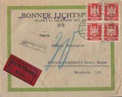 DR Brief Eilbote Mef Minr.4x 357 Beuel 17.8.26 Gel. Nach Stoppenberg Nachporto Ansehen !!!! - Covers & Documents