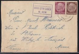 DR Brief Aus Dem KZ Vrchoslav (Rosenthal) Brüx-STW-Lager Nr.33/34 Gel. Nach Frankreich Zensur - Briefe U. Dokumente