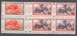 Indonesia 1967 Mi#590-591 Mint Never Hinged Blocks Of Four - Indonésie