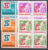 Indonesia 1969 Mi#626-629 Mint Never Hinged Blocks Of Four - Indonésie