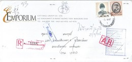 Thailand 1992 Bangkok King Bhumibol Registered AR Advice Of Receipt Returned Domestic Cover - Thailand