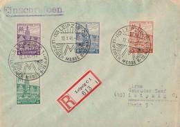 SBZ R-Brief Mif Minr.162-165 SST Leipzig 12.5.46 - Sowjetische Zone (SBZ)