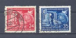 1952 DDR  Mi-315-316 7 September Leipziger  Herbstmesse Gestempelt - [6] Democratic Republic