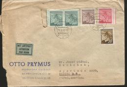 M) 1945 ČESKOSLOVENSKO, LINDEN LEAVES AND BUDS, AIR MAIL, CIRCULATED COVER FROM ČESKOSLOVENSKO TO MEXICO. - Czechoslovakia