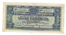 Mozambique - 20 Cents 1933 - VOID - VF - Mozambique