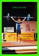 SPORTS  HALTHÉROPHILE - SABRINA RICHARD CHAMPIONNE DE FRANCE POUR LE J.O. DE SYDNEY - CIRCULÉE EN 2001 - - Haltérophilie