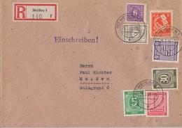 SBZ R-Brief Mif Minr.9,52,69,96,119 Gemeina. Minr.915,928 Meissen 25.3.46 - Sowjetische Zone (SBZ)