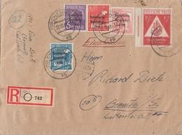 SBZ R-Brief Mif Minr.183,184,189,192,228 DZ Druckerzeichen Chemnitz 27.10.48 - Sowjetische Zone (SBZ)