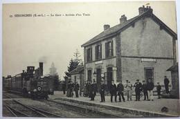 LA GARE - ARRIVÉE D'UN TRAIN - SENONCHES - Frankreich