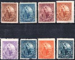EL SALVADOR, FIGURE ALLEGORICHE, LIBERTA, 1894, FRANCOBOLLI NUOVI (MLH*),  YT 77-81,83,84,86   Scott 91-95,97,98,100 - El Salvador