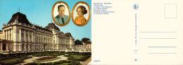 Belgique - Roi Baudouin Et Reine Fabiola En Médaillon Au Dessus Du Palais Royal - Familles Royales