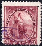 EL SALVADOR, FIGURE ALLEGORICHE, LIBERTA, 1894, FRANCOBOLLI USATI,  YT 79   Scott 93 - El Salvador