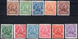 EL SALVADOR, FIGURE ALLEGORICHE, CERES, UPU, 1899, FRANCOBOLLI NUOVI (MLH*),  Michel 186 I-196 I   Scott 199-209 - El Salvador
