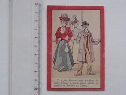 CHROMO AU BONHEUR DES DAMES: Chapeau Coiffure - Joile Dame Bourgeoise - Saint-Etienne MULCEY - Andere