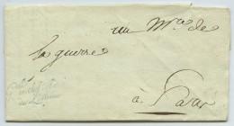 Cursive Gal En Chef De L'armée De L'intérieur / LAS Général Hatry Au Ministre De La Guerre Petiet . 31 Mai 1796 . - Marcophilie (Lettres)