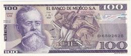 Mexico 100 Pesos 25-3-1982 UM Pick 74.c UNC - México