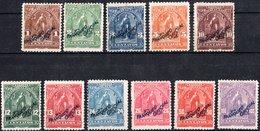 EL SALVADOR, FIGURE ALLEGORICHE, CERES, UPU, 1899, FRANCOBOLLI NUOVI (MLH*),  Scott O149-O157, O159,O160 - El Salvador