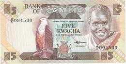 Zambia 5 Kwacha 1980-88 Pick 25.d UNC - Zambia