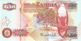 Zambia 50 Kwacha 2008 Pick 37.g UNC - Zambia