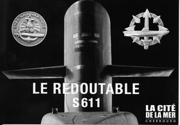 Militaria - Carte Postale - Sous-marin LE REDOUTABLE S611 - Boten