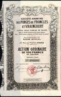 FORGES De FRONCLES Et VRAINCOURT - Industrie