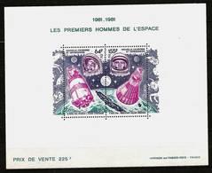 NEW CALEDONIA 1981 - 20th Anniv FIRST MAN In SPACE / Gagarin A. Shepard - Bloc 4 Mi 666-667 MNH ** Cv€18,00 V866 - New Caledonia
