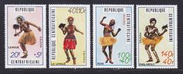 CENTRAFRICAINE N°  139 à 142 ** MNH Neufs Sans Charnière, TB (D6936) Danses Traditionnelles - Central African Republic