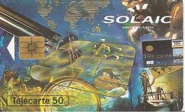 CARTE-PUCE-PRIVEE-PUBLIC- 50U-EN730-SO3-09/93-SOLAIC 1993-R°Mat-UTILISE-TBE - 50 Einheiten