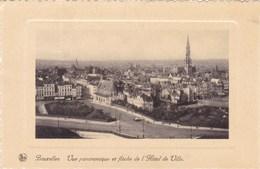 Brussel, Bruxelles, Vue Panoramique Et Flèeche De L'Hotel De Ville (pk45848) - Panoramische Zichten, Meerdere Zichten