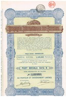 Ancienne Action - Compagnie Internationale Des Pétroles - Titre De 1925 - Pétrole