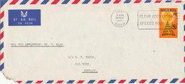 Nigeria Air Mail Cover Sent To Denmark Lagos 14-3-1972 Single Franked - Nigeria (1961-...)