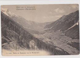 Valle Di Chamonix Vista Da Montenvers, Francia - F.p. -  Anni '1910 - Chamonix-Mont-Blanc
