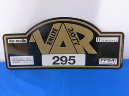 "Plaque Rallye ""VAR 2017"" Rally Plate - Plaques De Rallye"