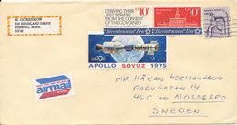 USA Cover Sent Air Mail To Sweden 1982 - Etats-Unis