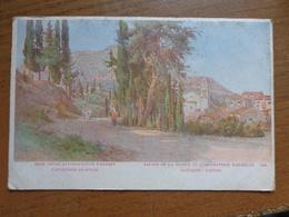 Griekenland - Greece / Avenue De La Source De L'impératrice Elisabeth - Corfou --> Written 1918 - Grèce