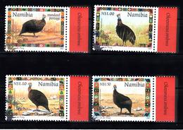 Namibie  1997 Mi Nr  871 - 874: Helmparelhoen, Helmet Guinea Fowl - Namibië (1990- ...)