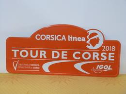 """Plaque Rallye """"TOUR DE CORSE 2018"""" Rally Plate - Rallye (Rally) Plates"""